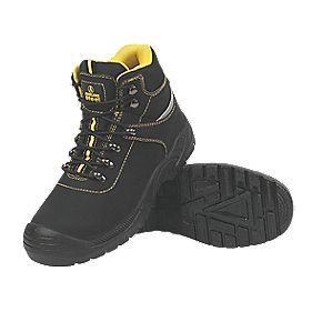 Amblers Steel Bump Cap Safety Boots Black Size 7