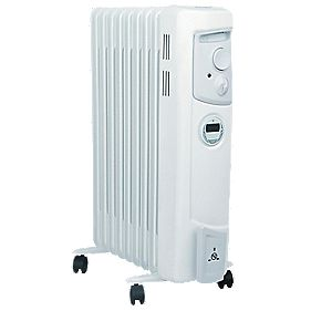 Dimplex OFC2000Ti Oil-Filled Portable Convector Radiator with Timer 2kW