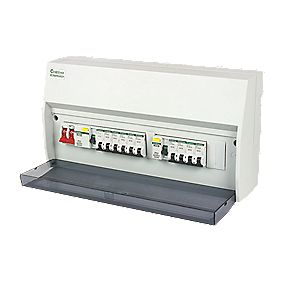 Crabtree Starbreaker 13-Way Dual RCD Board & 10 MCBs