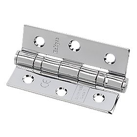 Eclipse Grade 7 Ball Bearing Hinge Polished Chrome 76 x 51mm Pack of 2