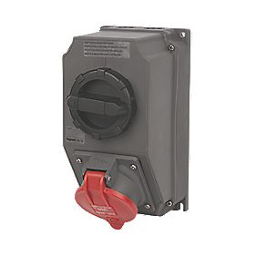380-415V Legrand Hypra Interlocked Switched Inclined Socket 3P+E+N (IP44)