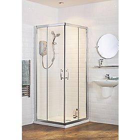 Moretti Corner Entry Shower Enclosure Chrome Effect 760mm