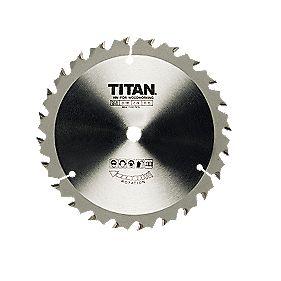 Titan TCT Circular Saw Blade 24T 205x18mm