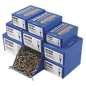 Goldscrew Woodscrews Trade Pack Double-Countersunk Pack of 1400