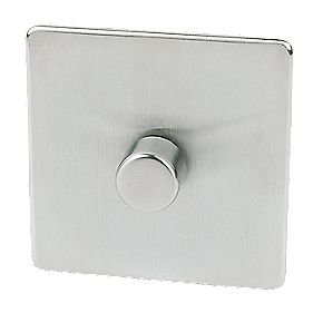 Crabtree 1-Gang 2-Way Dimmer Brushed Chrome 250W