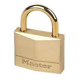 Master Lock Padlock Brass 35mm
