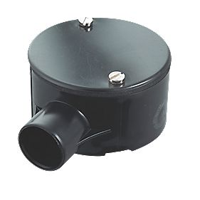 Tower Terminal 1-Way Terminal Box 20mm Black