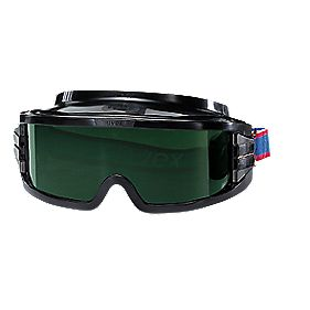 Uvex Ultravision Green Lens Welding Goggles Black Frame