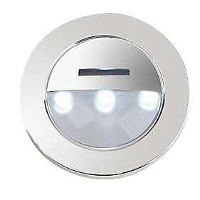 Halolite HA-STL571 Eyelid Cabinet Plinth Light Polished Chrome/White