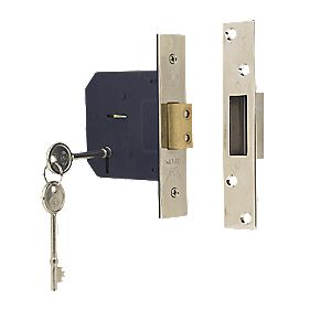 "Sterling 5-Lever Mortice Deadlock Satin Nickel 3"" (76mm)"