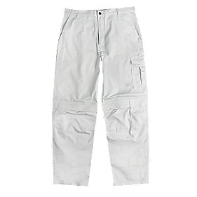 "Site Painters Trousers White 40"" W 32"" L"