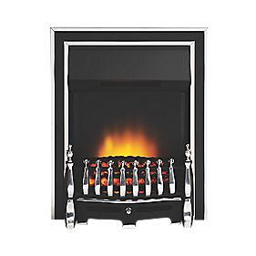 Focal Point Excelsior Traditional Electric Fire Antique Chrome 2.06kW