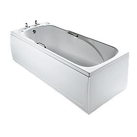 Armitage Shanks Sandringham Modern Bath Acrylic 2 Tap Hole 1700mm