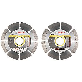 Bosch Universal Segmented Diamond Blade 115 x 22.23mm Pack of 2