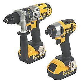 DeWalt DCK290M2 18V 4Ah Li-Ion Twin Pack Combi Drill & Impact Driver XR