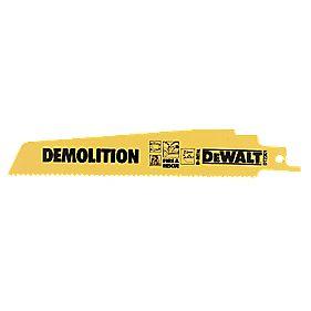 DeWalt DT2301 152mm 10Tpi Demolition Reciprocating Saw Blades Pack of 5