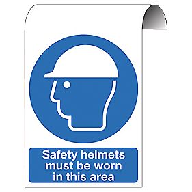 """""""Safety Helmets Must Be Worn In This Area"""" Sign 500 x 300mm"""