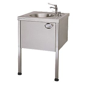 Franke Round Washbasin with Legs Stainless Steel 1 Bowl 860 x 450mm