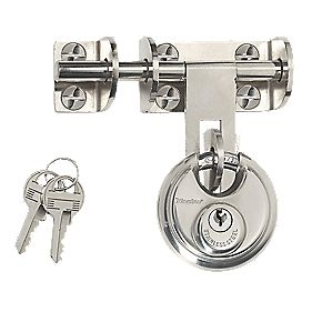 Master Lock Hasp & Staple 120mm with Disc Padlock