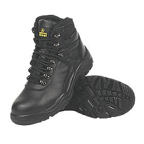 Amblers Steel Water-Resistant Safety Boots Black Size 7