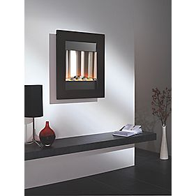 Focal Point Monet Black Contemporary Wall Hung 2.06kW Electric Fire