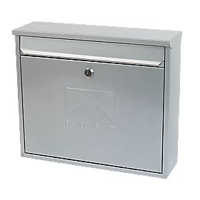 Sterling Elegance Rectangular Post Box Silver
