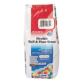 Mapei BuildFix Flexible Wall & Floor Grout Oyster Silver 2.5kg