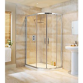 Moretti Framed Offset Corner Quadrant Shower Enclosure Chrome 1200mm