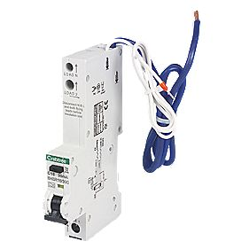 Crabtree 16A 30mA 1 Pole + Neutral Type A C Curve RCBO