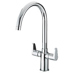 Bristan Quest Sink-Mounted Mono Mixer Kitchen Tap Chrome