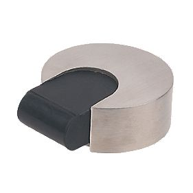 Eclipse Round Floor Mounted Door Stop Satin Stainless Steel
