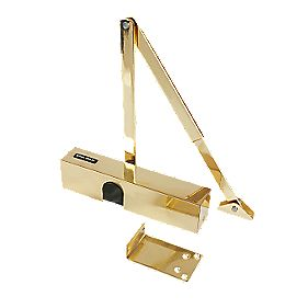 Briton 2003V Door Closer Brass