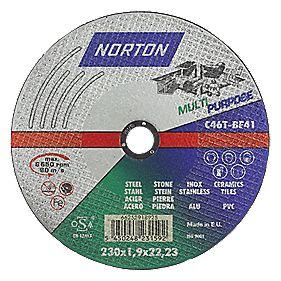 Norton Multipurpose Cutting Disc 230mm Pack of 3