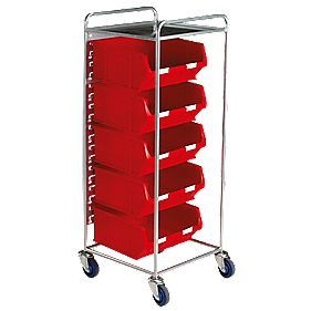 Container Trolley with 5 x TC6 Red Containers