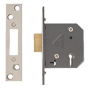 "Yale 5-Lever Mortice Deadlock Polished Chrome "" / 64mm"