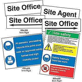 Site Safety & Navigation Signs Pack x mm