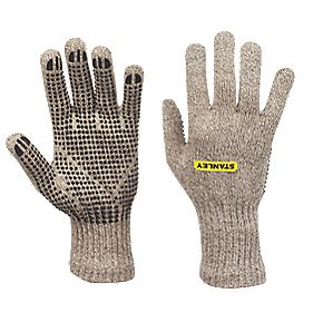 Stanley General Handling Wool Winter Dot Gripper Gloves Grey Large