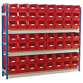 Toprax Longspan Starter Bay w/ 56 x TC5 Red Containers 1812 x 328 x 1500mm