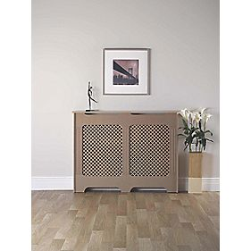 MDF Radiator Cabinet Medium Unfinished 1198 x 200 x 900mm