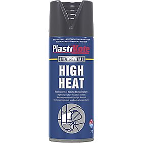 Plasti-Kote Heat Resistant Paint Black 400ml