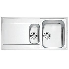 Screwfix Franke Sink : Franke Inset Kitchen Sink Stainless Steel 1?-Bowl 1000 x 510mm ...