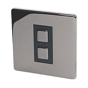1-Gang Slave Dimmer Black Nickel 250W