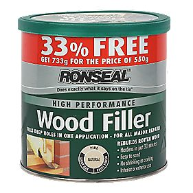 Ronseal High Performance Natural Wood Filler 33% Extra Free