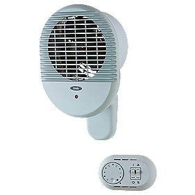Creda 035615 Wall-Mounted Fan Heater 3000W