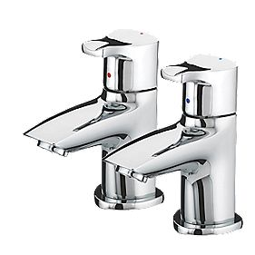 Bristan Capri Bathroom Basin Pillar Taps Pair