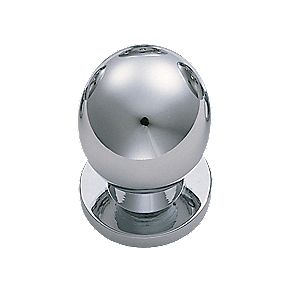 Carlisle Brass FingerTip Design Solid Round Knob Polished Chrome 30mm