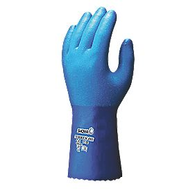 Showa Best Temres 281 Waterproof Gauntlets Blue Medium