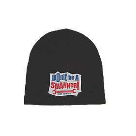 Don't Be A Spanner / Screwfix Everyman Beanie Hat Black