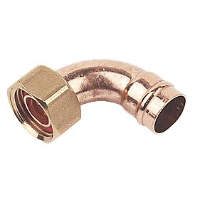 "Bent Tap Connector Solder Ring 15mm x 1/2"" Pack of 5"