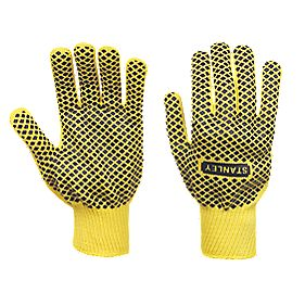 Stanley General Handling Diamond Dot Gripper Gloves Yellow Large